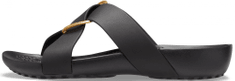 Crocs dámské pantofle Serena Cross Band Slide W (206099-001) 37/38 černá