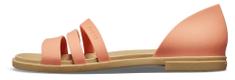 Crocs dámské sandály Tulum Open Flat W (206109) 36/37 lososová