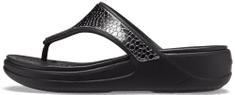 Crocs dámské žabky Monterey Metallic Wedge Flip (206303-0GQ) 36/37 černá