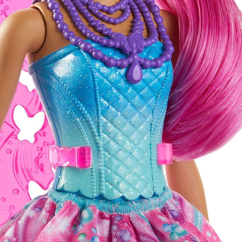 Mattel Barbie Kouzelná víla růžová křídla