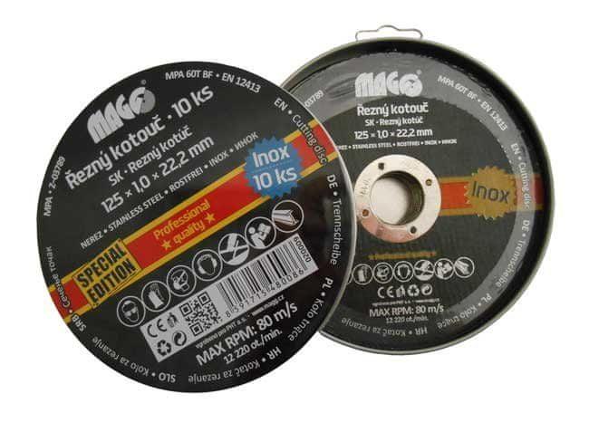 MAGG Řezný kotouč na nerez 125x1,0x22,2mm 10ks
