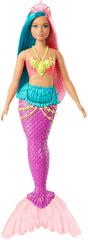 Mattel Barbie Kúzelná morská víla vlasy tyrkysovo-ružové