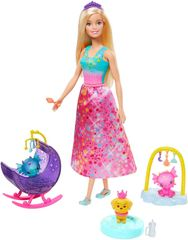 Mattel Barbie Pravljični set s punčko Princeso z dolgim krilom