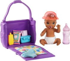 Mattel Barbie Herní set Miminko s přebalovací taškou