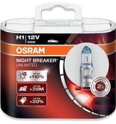 Osram  Žárovka 12V 55W P14,5s H1 NIGHT BREAKER® LASER BOX 64150NL-HCB