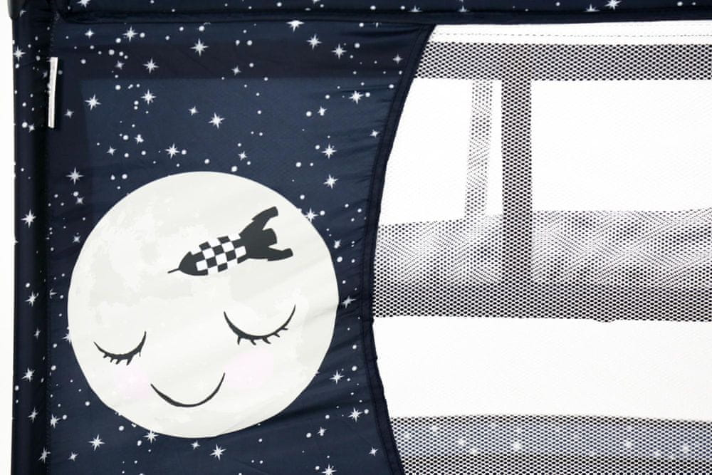 Asalvo Cestovní postýlka SMOOTH závěsné dno, moon