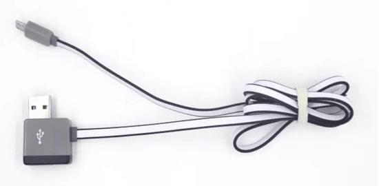 Symfony Multifunkční USB kabel s výstupem na další USB 1m černý