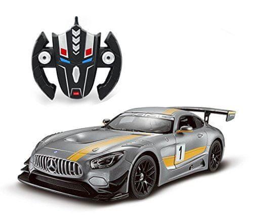 COIL Mercedes AMG GT3 Transforming Robot 1:14 RC Silver dálkově ovládané auto