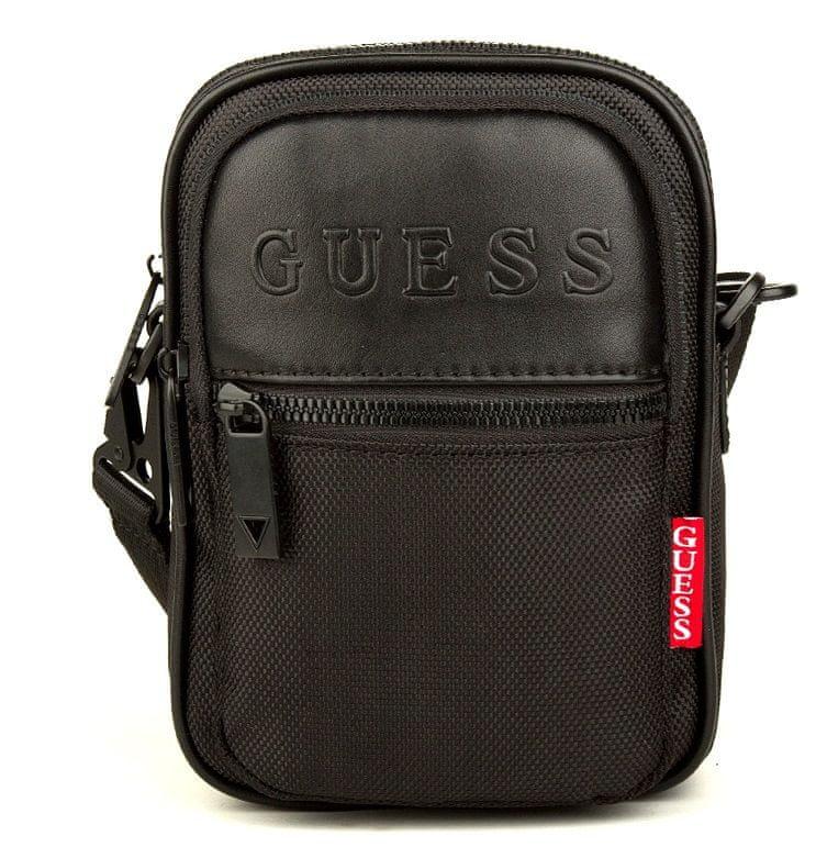 Guess pánská černá crossbody taška HMDNNY P0216