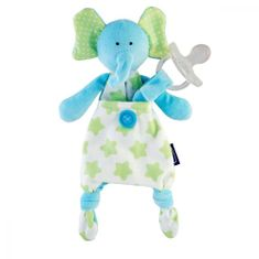 Chicco hišni ljubljenček z žepom za dude, slon, od 0m +