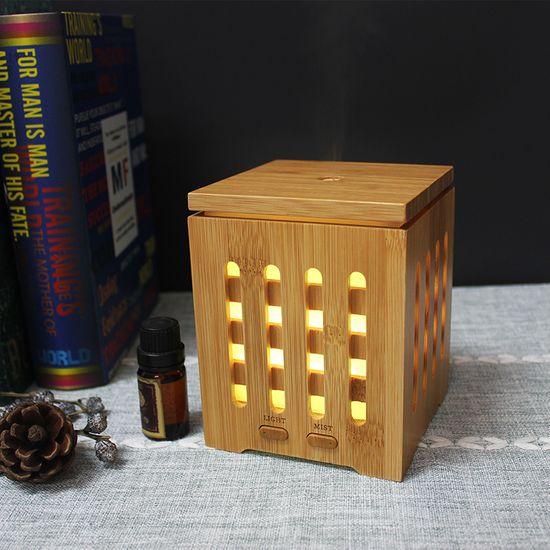 """GOLDSUN Oljni Difuzor """"Bamboo 200ml"""" osvežilec in vlažilec zraka - Svetli les"""