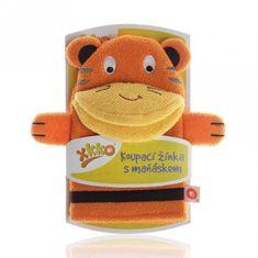XKKO Rękawica kąpielowa z lalką - Tygrysem