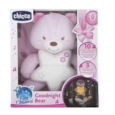 Chicco Medved Goodnight žareč medved, roza