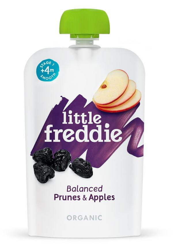 Little Freddie Sušené švestky s jablky, 6 x 100g