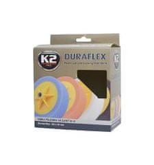K2 K2 DURAFLEX leštiaca hubka s možnosťou úchytu 150 x 50 mm ČIERNA
