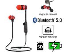 Platinet PM1062R brezžične športne slušalke, rdeče