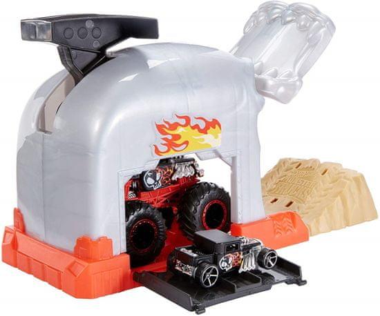 Hot Wheels Monster trucks verseny játékkészlet, szürke