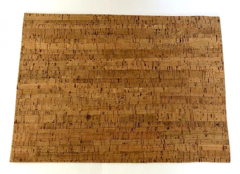 DUE ESSE Korkové prostírání 29×40 cm, tmavě hnědá