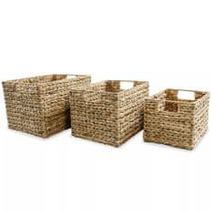shumee Úložné koše 3-dielna sada, vodný hyacint