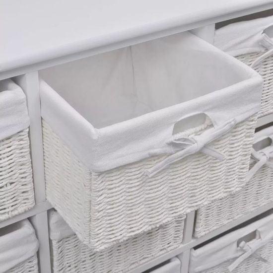 shumee Szafka z koszykami, biała