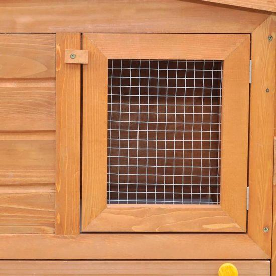 shumee Duża klatka z zadaszeniem dla królików, drewniana