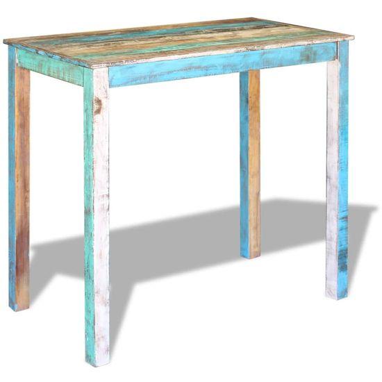 shumee Barska miza iz trdnega predelanega lesa 115x60x107 cm