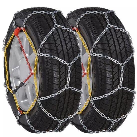 shumee 2 ks Sněhové řetězy na pneumatiky aut, 12 mm KN 120