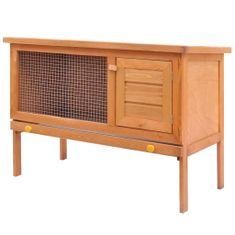 shumee Zunanji zajčnik / hišica za male živali enonadstropna iz lesa