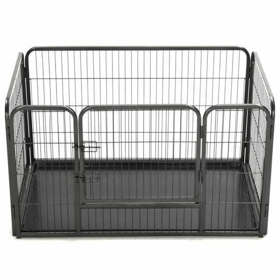 shumee Ograda za pasje mladičke kovinska 125x80x70 cm
