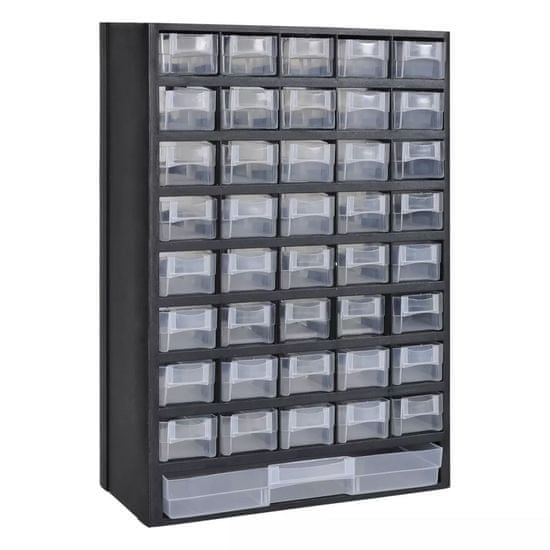 shumee Plastična škatla za orodje z 41 predali