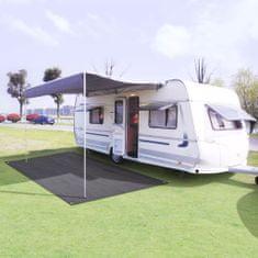 shumee Preproga za šotor 250x500 cm antracitna