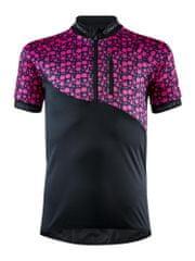 Craft Cyklodres Bike JR černá s růžovou 158