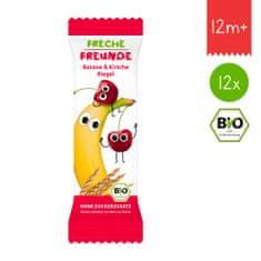 Freche Freunde BIO Ovocná tyčinka - Banán a čerešňa 12x23g