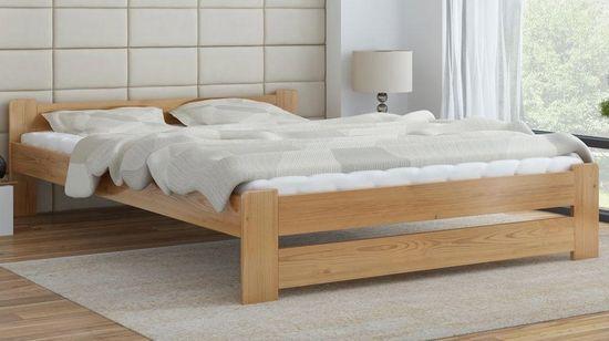 Importworld Dřevěná postel Viktor 140x200 + rošt ZDARMA - borovice