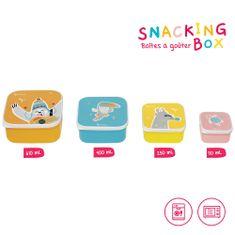 Badabulle pojemniki na przekąski Snacking Box 4 szt.