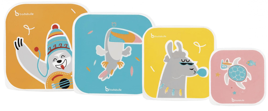 Badabulle svačinové misky Snacking Box 4ks