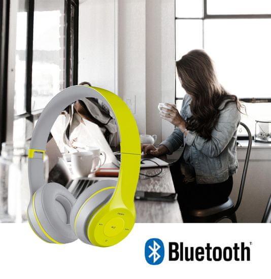 Platinet FH0915B naglavne Bluetooth slušalke, mikrofon, microSD, FM radio, AUX-in, zložljive