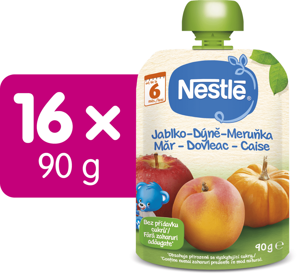 Nestlé kapsička Jablko Dýně Meruňka 16x90g