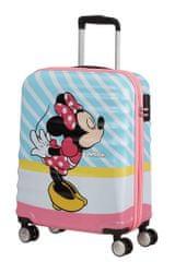 American Tourister Kabínový cestovný kufor Wavebreaker Disney Spinner 31C 36 l Minnie Pink Kiss
