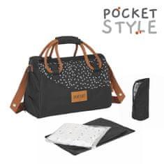 Badabulle prebaľovacia taška POCKETSTYLE Black CAMEL
