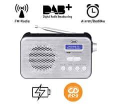 Trevi 7F92R prenosni digitalni radio, DAB, DAB+, FM, črna