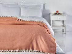 Denizli Concept Cienka narzuta na łóżko JODEŁKA KLASYCZNA pomarańczowy 200x240 cm.