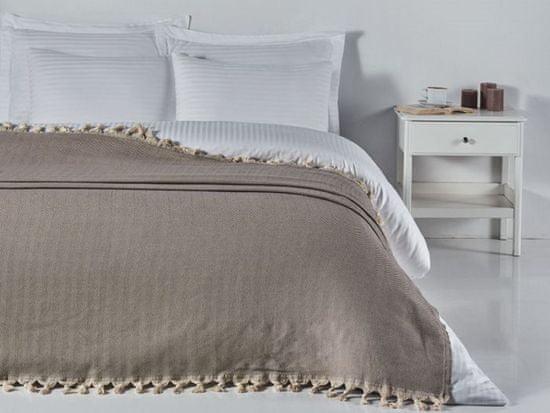 Denizli Concept Cienka narzuta na łóżko BALIKSIRTI kolor kawy 200x240 cm.