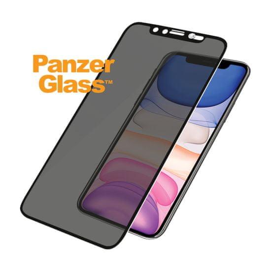 PanzerGlass Szkło ochronne Edge-to-Edge Privacy dla iPhone Xr/11, czarne Swarovski CamSlider (P2681)