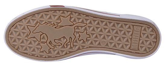 Mustang Damskie tenisówki 1353301-203 lód