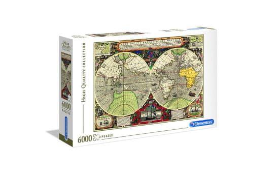 Clementoni HQC Antique Nautical Map (36526) sestavljanka, 6000 kosov