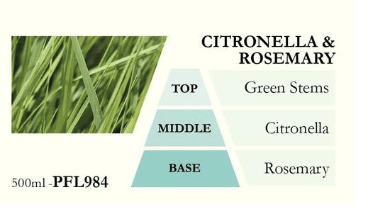 Ashleigh & Burwood Wkład do lampy katalitycznej CITRONELLA & ROSEMARY (trawa cytrynowa z rozmarynem) 500 ml