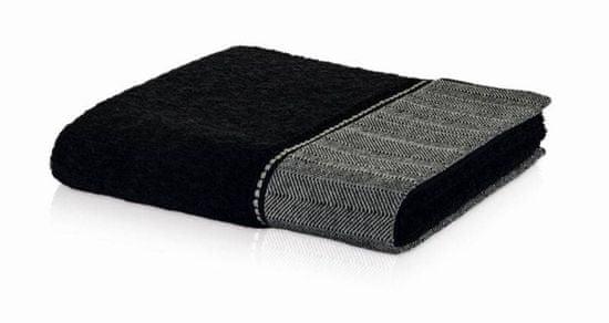 Möve BROOKLYN brisača z obrobo 30x50 cm črna