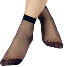 Pesail Dámské silonky - ponožky 10 párů - černá