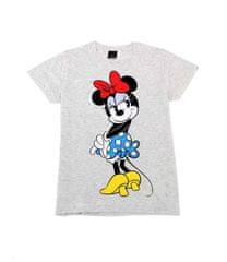 """SETINO Ženska majica s kratkimi rokavi """"Minnie Mouse"""" - siva - XS"""